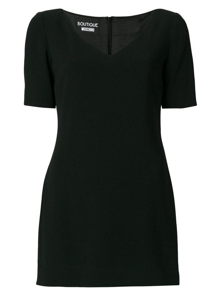 Boutique Moschino - panel hem T-shirt dress - women - Triacetate/Polyester/Silk/Acetate - 44, Black