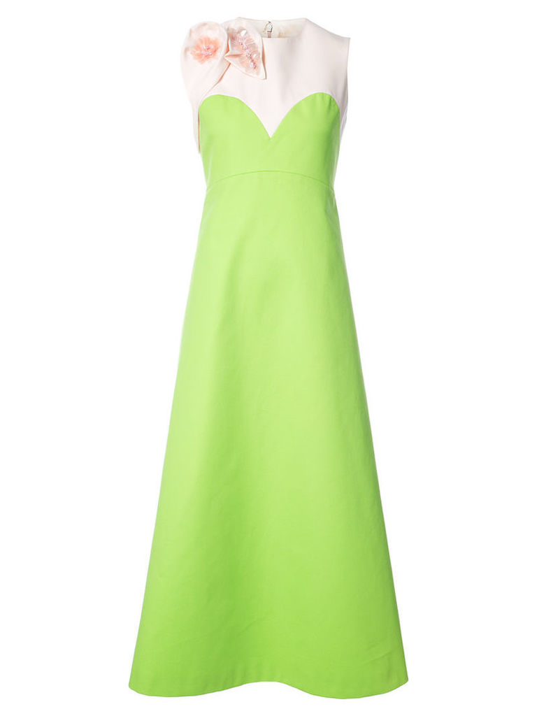 Delpozo - sequin embellished gown - women - Cotton/Viscose - 40, Green