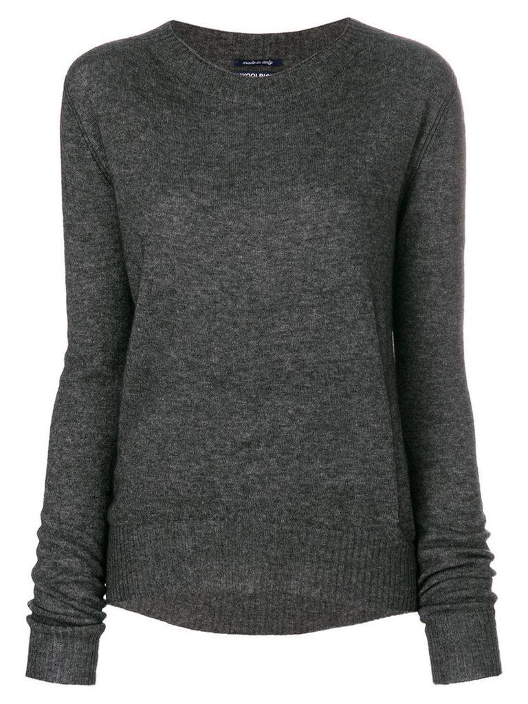 Woolrich - oversized sweater - women - Cashmere/Viscose/Wool/Polyamide - M, Grey