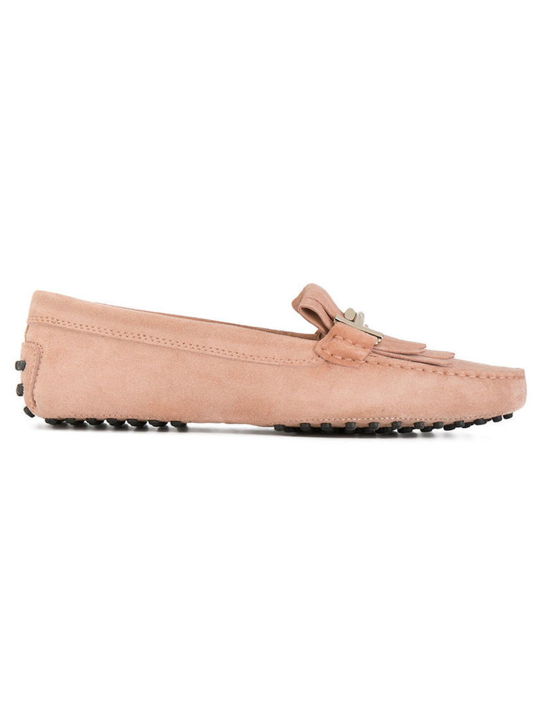 Tod's - Gommino loafers - women - Suede/Leather/rubber - 37, Pink/Purple