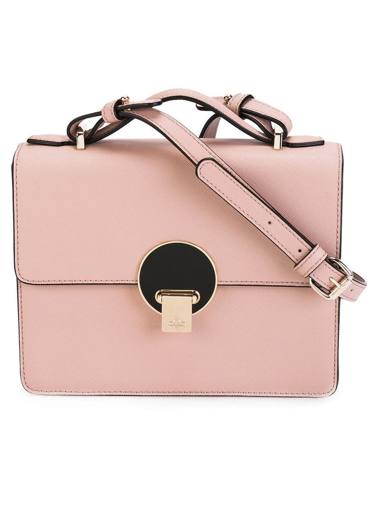 Vivienne Westwood - small Opio shoulder bag - women - Leather - One Size, Pink/Purple