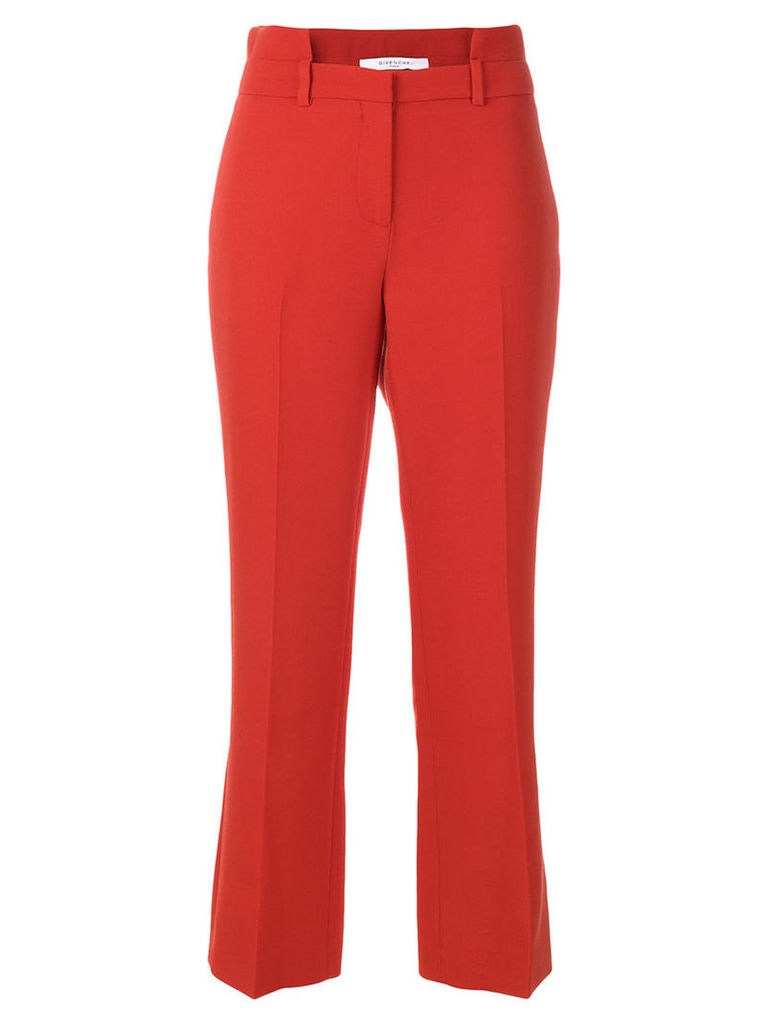 Givenchy - cutout waistband trousers - women - Cotton/Wool/Acetate/Polyamide - 38, Red