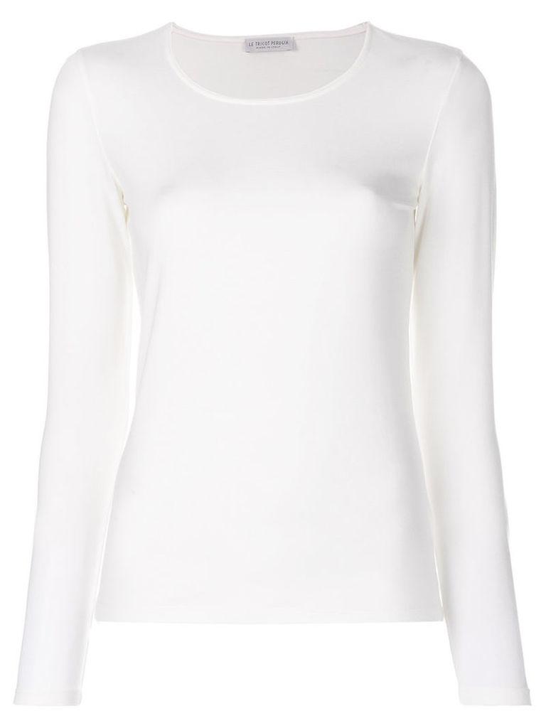 Le Tricot Perugia - long sleeved sweatshirt - women - Viscose/Elastodiene - L, White