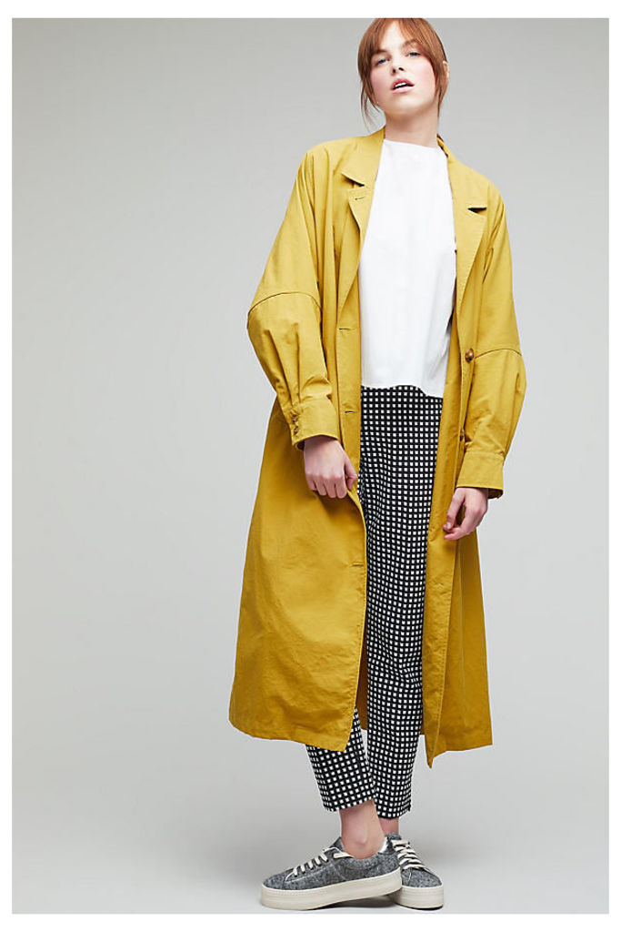 Collie Longline Trench - Yellow, Size L