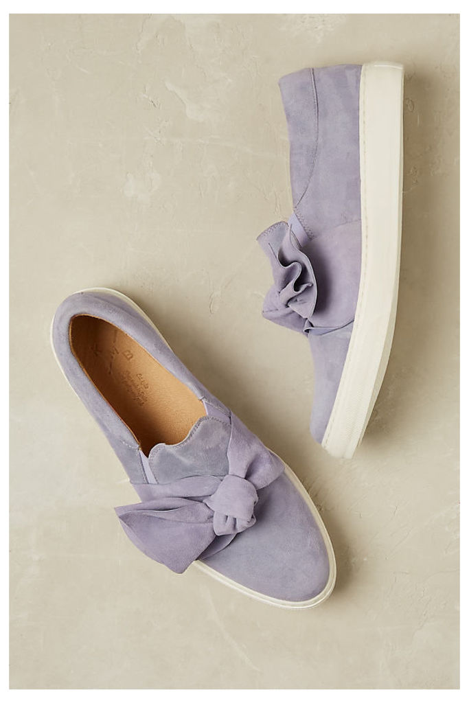 Zain Suede Trainers - Lilac, Size 41
