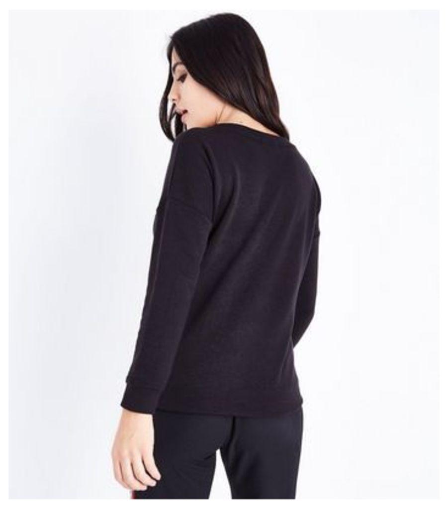 Petite Black New York East Side Print Sweatshirt New Look