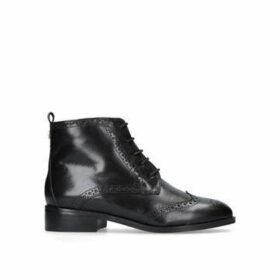 Carvela Toby - Black Flat Lace Up Boots