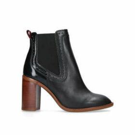 Kurt Geiger London Safari - Black Mid Heel Ankle Boots
