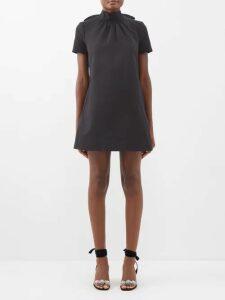 Stella Mccartney - Indigo Round Neck Ruched Sleeve Cocoon Dress - Womens - Indigo