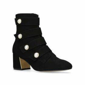 Womens Carvela Spandaucarvela Kurt Geiger Spandau Black Suede Ankle Boots, 3.5 UK