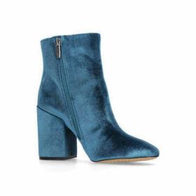 Womens Teal Velvet Ankle Bootsvince Camuto, 11 UK