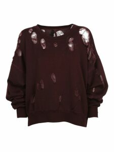 Ben Taverniti Unravel Project Distressed Sweatshirt