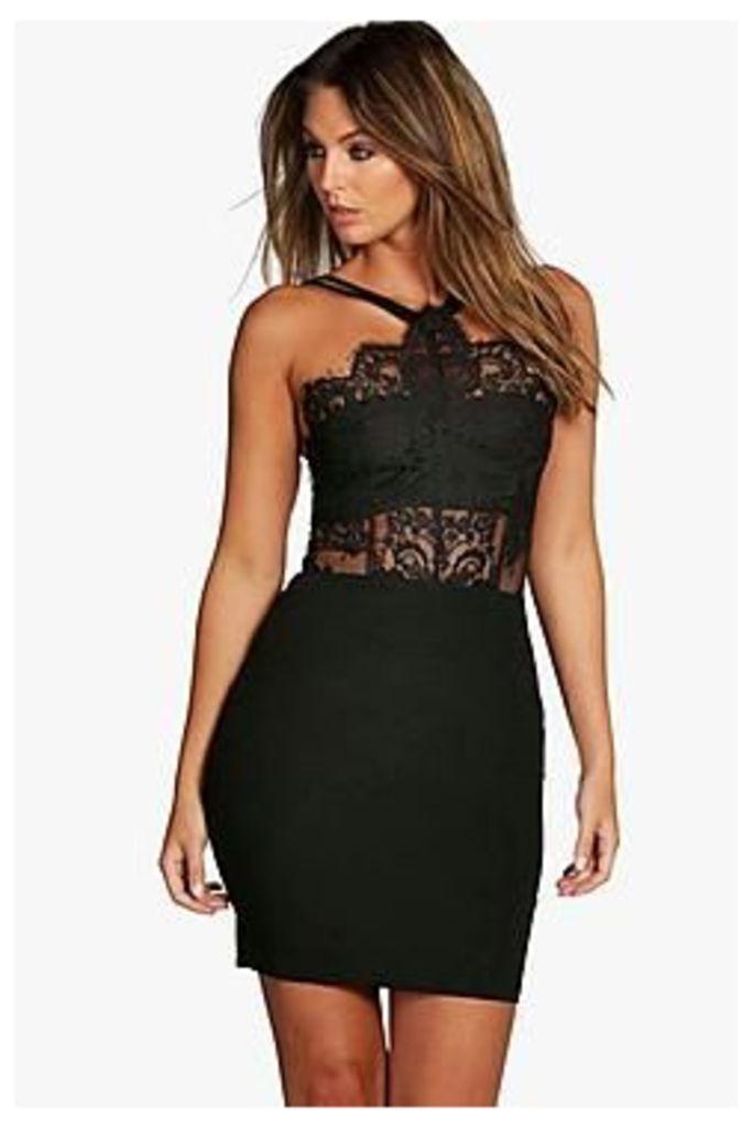 Boutique Sophia Eyelash Bodycon Dress