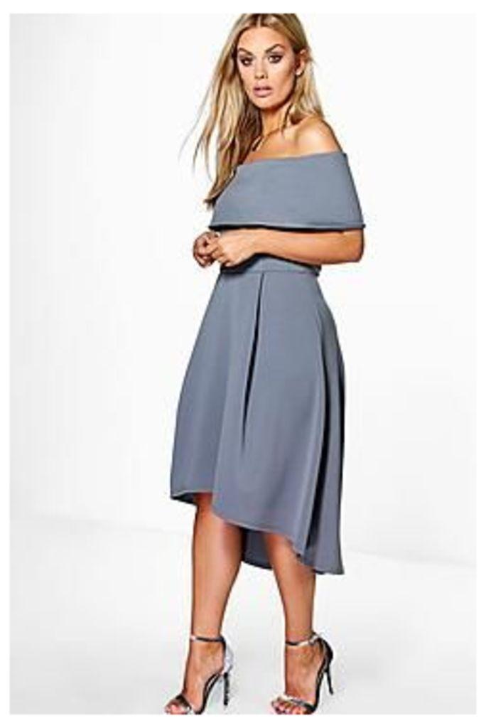 Plus Elizabeth Double Layer Midi Dress