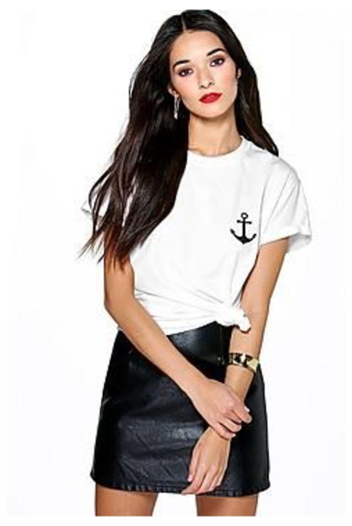 Annabelle Anchor Print T-Shirt