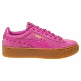 Puma  Vikky Platform  women's Shoes (Trainers) in Pink