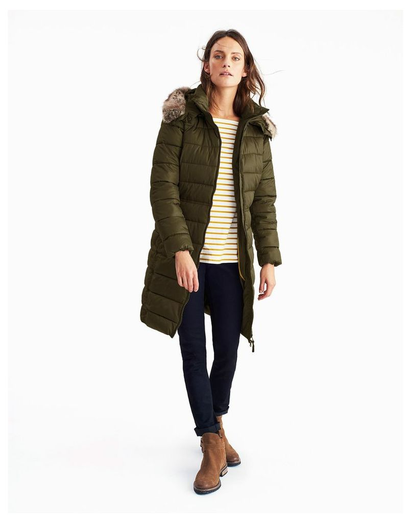 Woodland Green Snowdon Padded Jacket  Size 14 | Joules UK