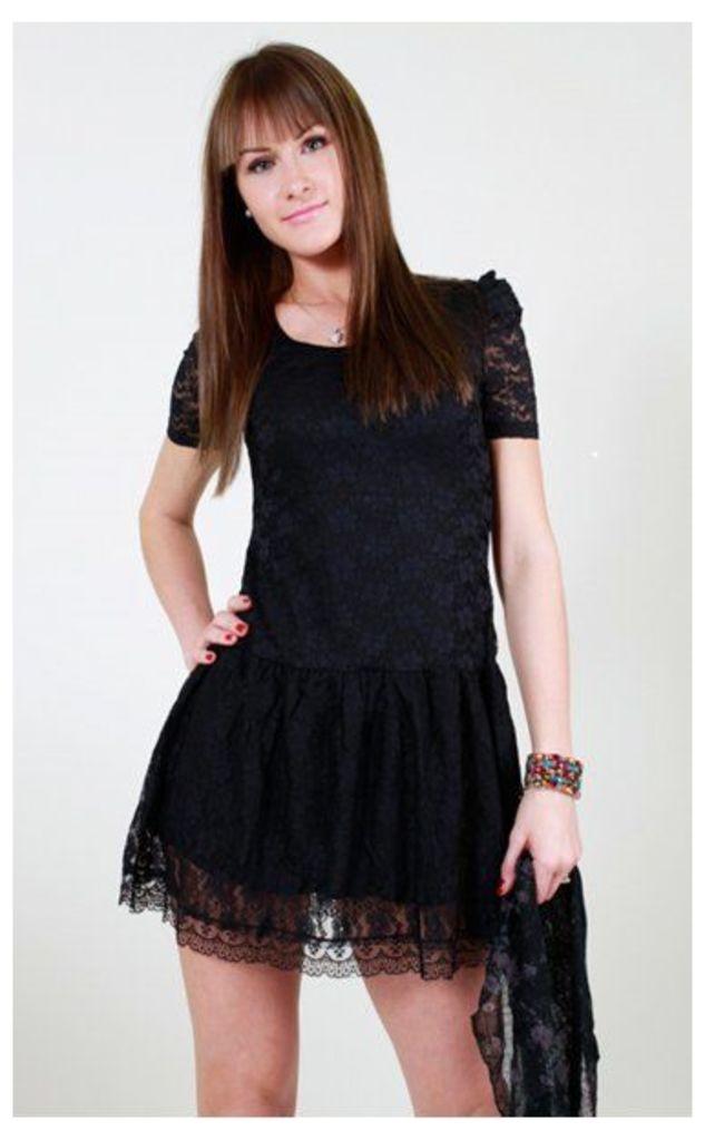 Emilee Vintage Style Lace Mini Dress
