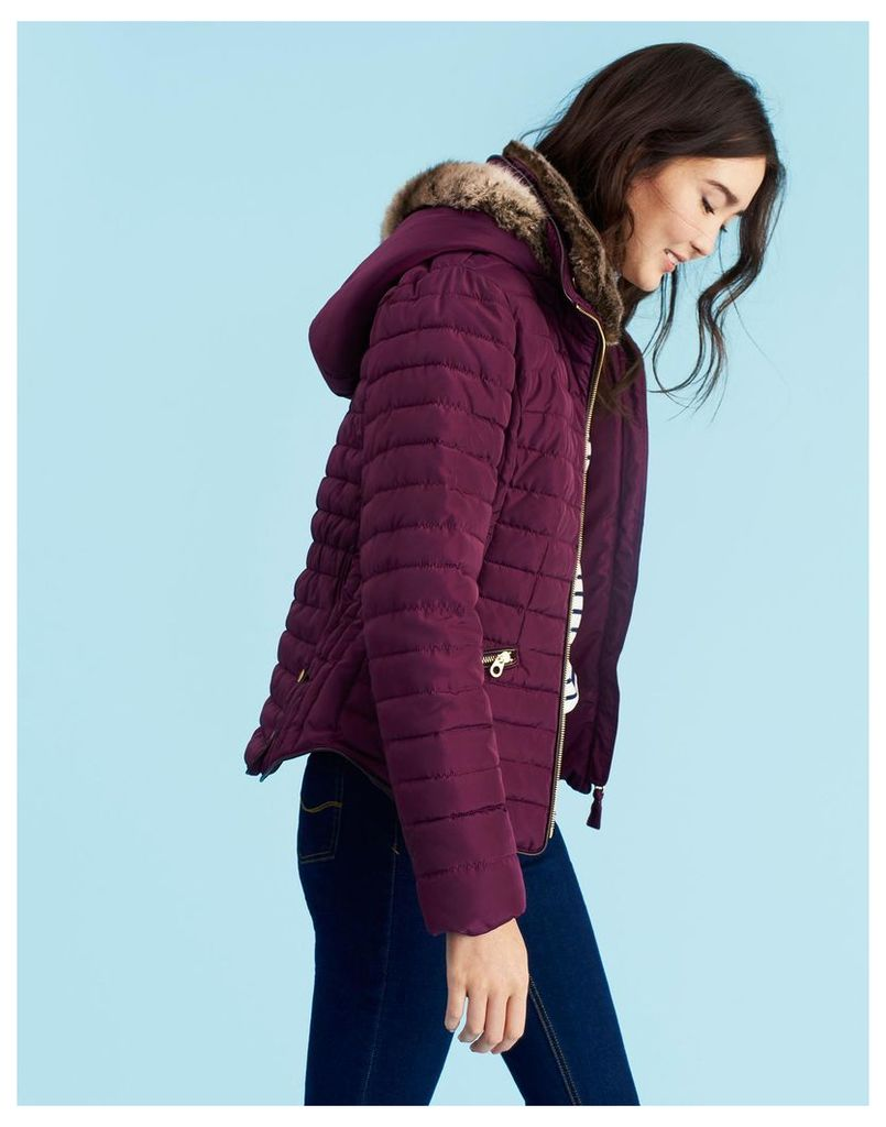 Burgundy Gosling Padded Jacket  Size 20 | Joules UK