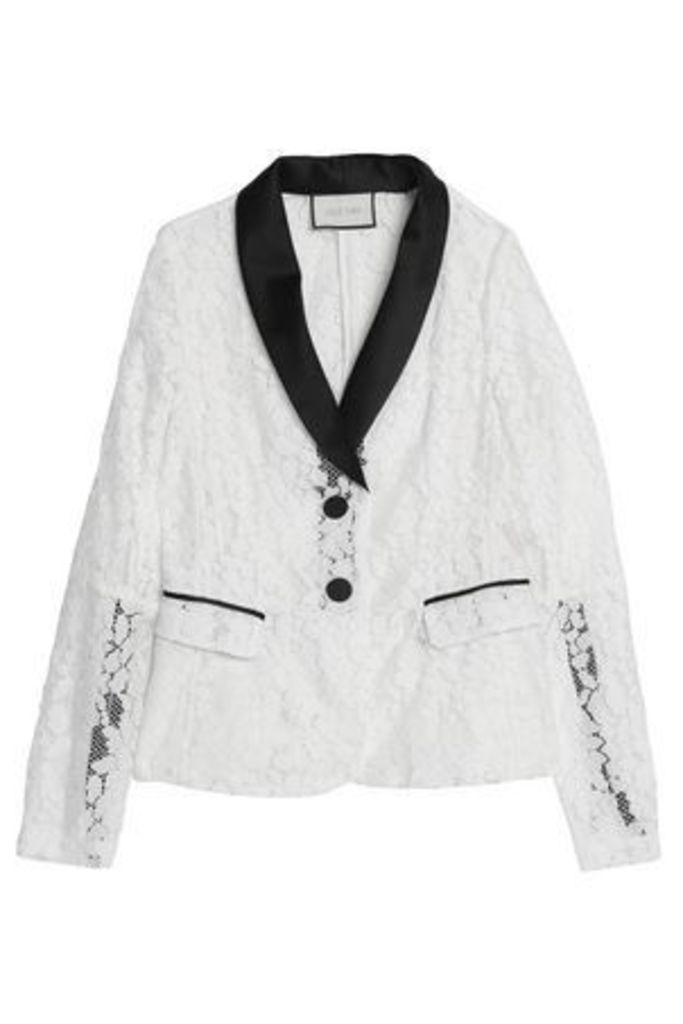 Alexis Woman Lace Jacket White Size XS