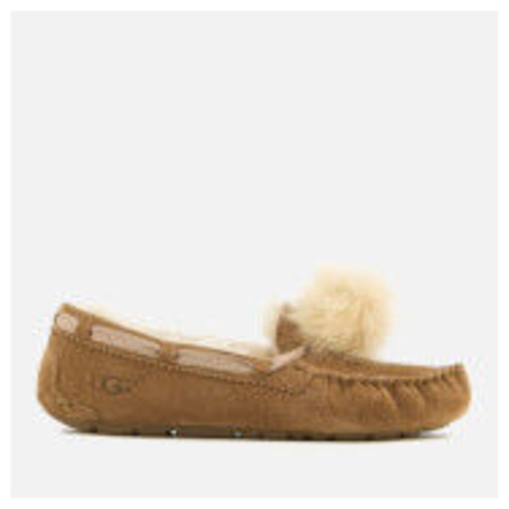 UGG Women's Dakota Moccasin Suede Slippers - Chestnut