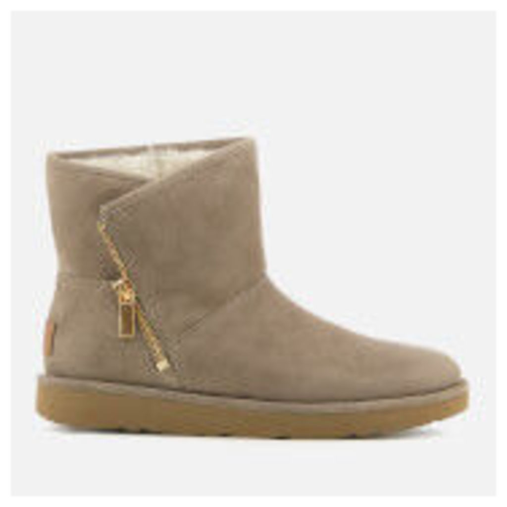 UGG Women's Kip Suede Zip Side Boots - Clay