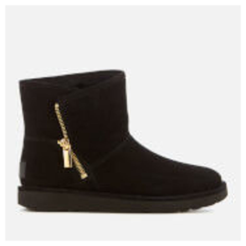 UGG Women's Kip Suede Zip Side Boots - Nero