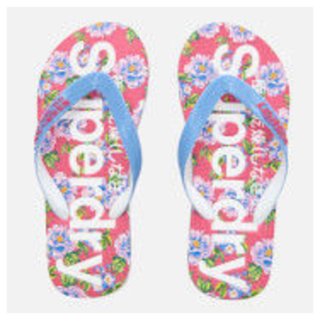 Superdry Women's All Over Print Flip Flops - Optic/Air Blue/Fluro Pink