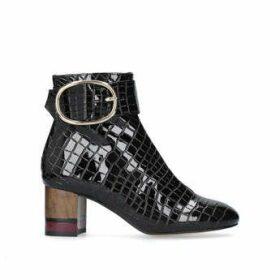 Womens Black Patent Ankle Bootskurt Geiger London, 6.5 UK