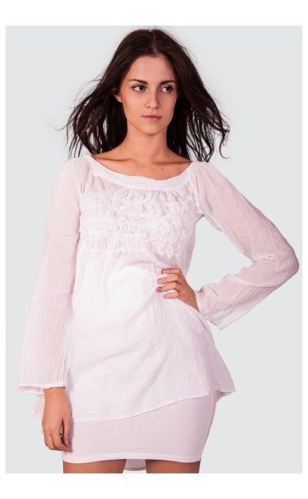 Fern Longer Length Shirt In White