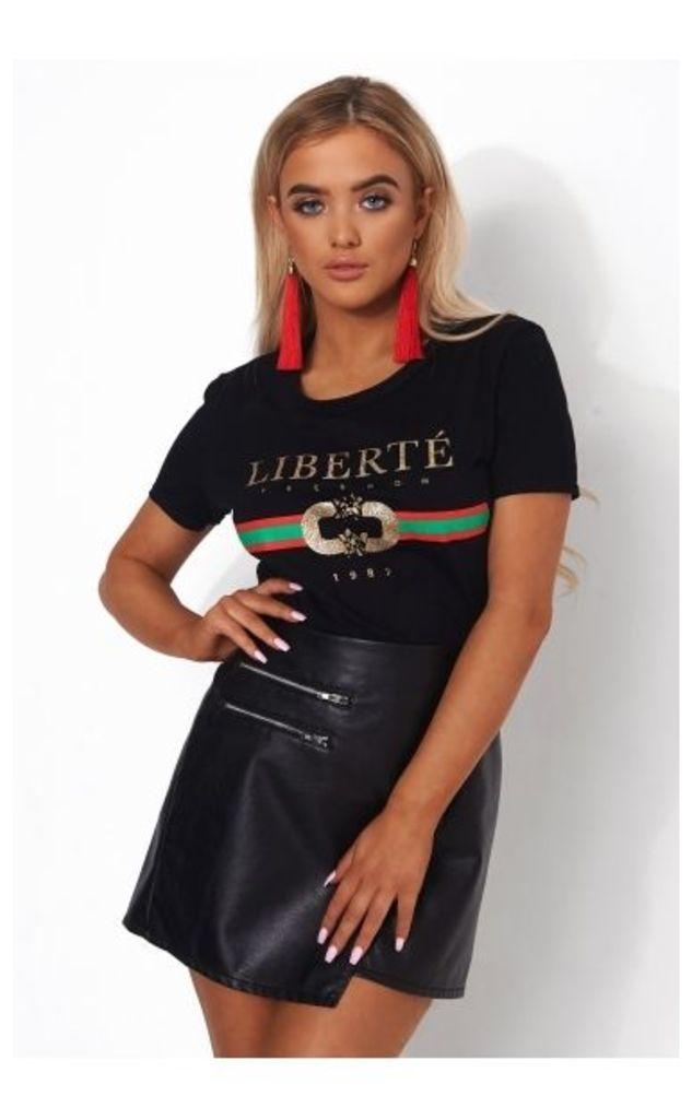 Liberte Black Slogan Tee