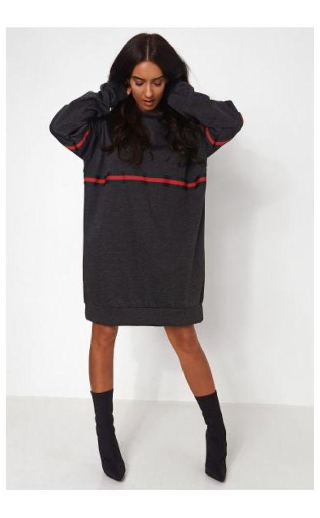 Black Stripe Oversized Sweatshirt