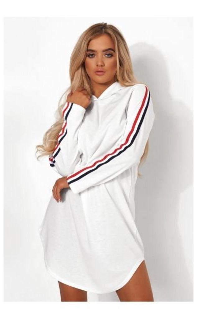 White Stripe Oversized Hoody