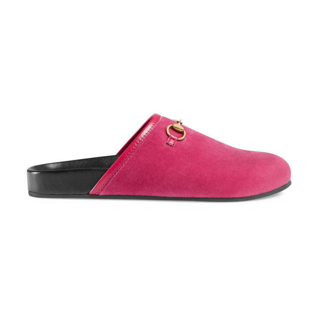 Velvet Horsebit slipper