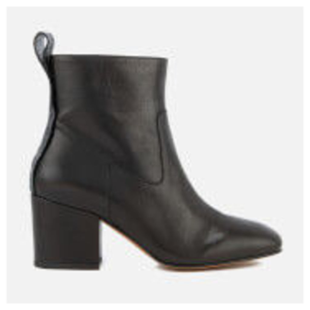 Hudson London Women's April Leather Heeled Ankle Boots - Black