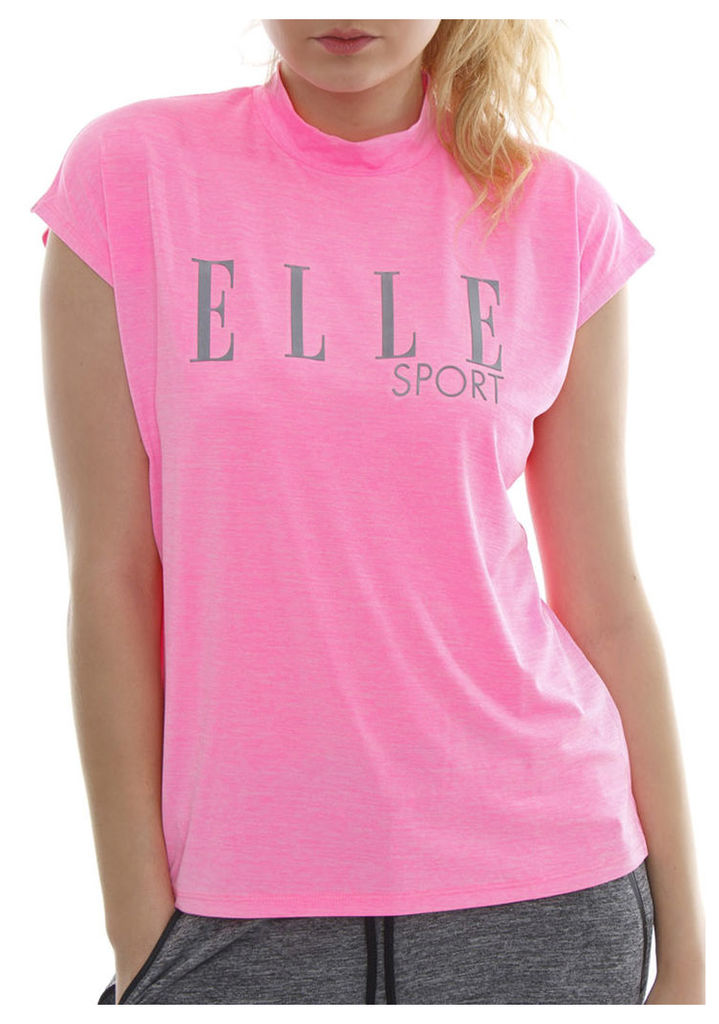 ELLESPORT USHAIYA STRAWBERRY CREAM Studio Hi neck slouch tee