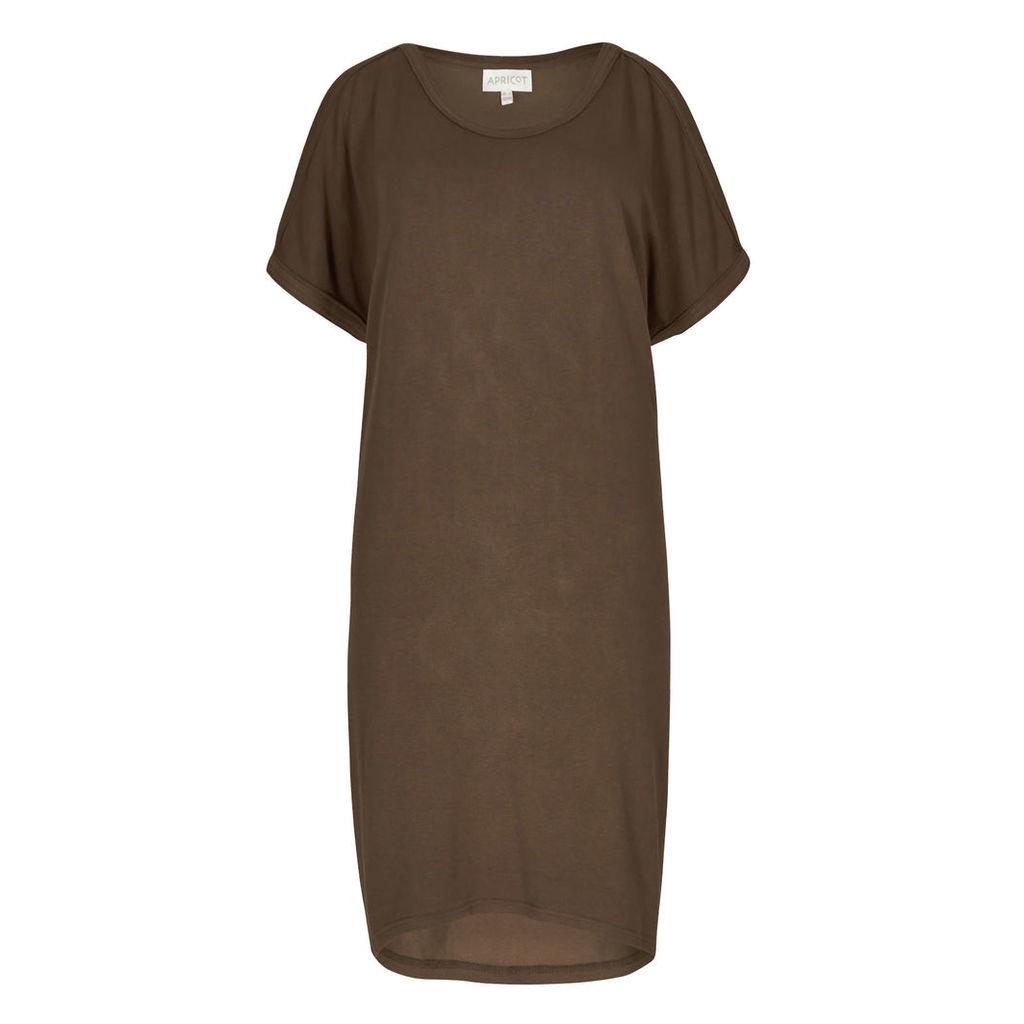 Khaki Cold Shoulder Tunic Dress