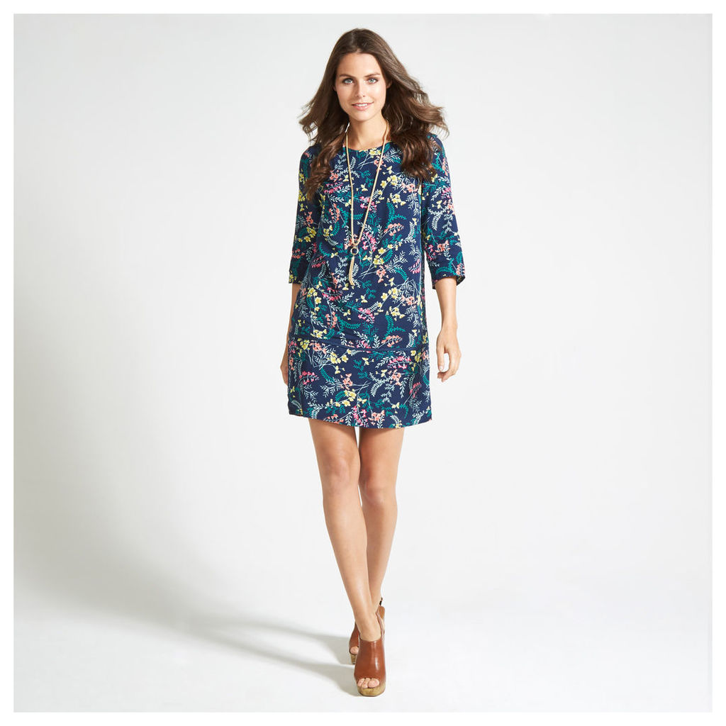 Multi-coloured  Grand Floral Print Shift Dress