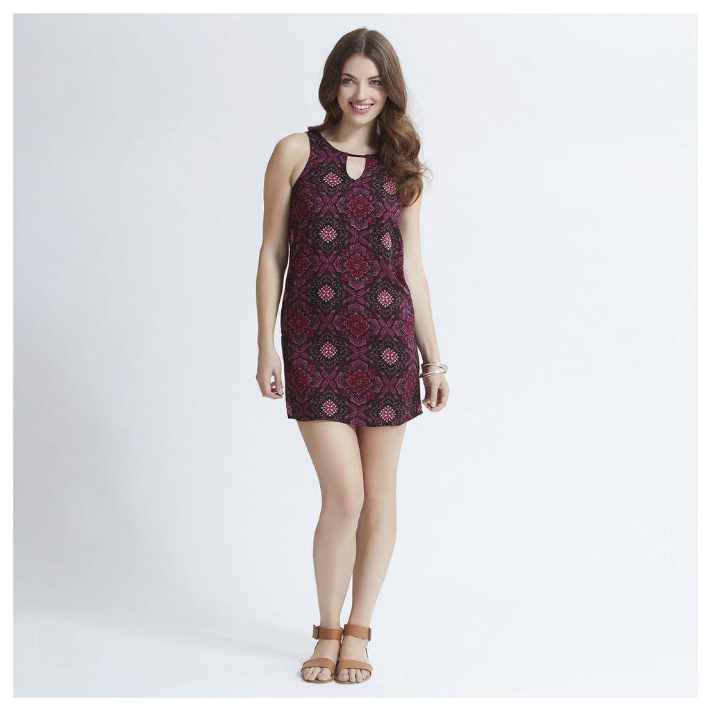 Red Paisley Print Tunic Dress