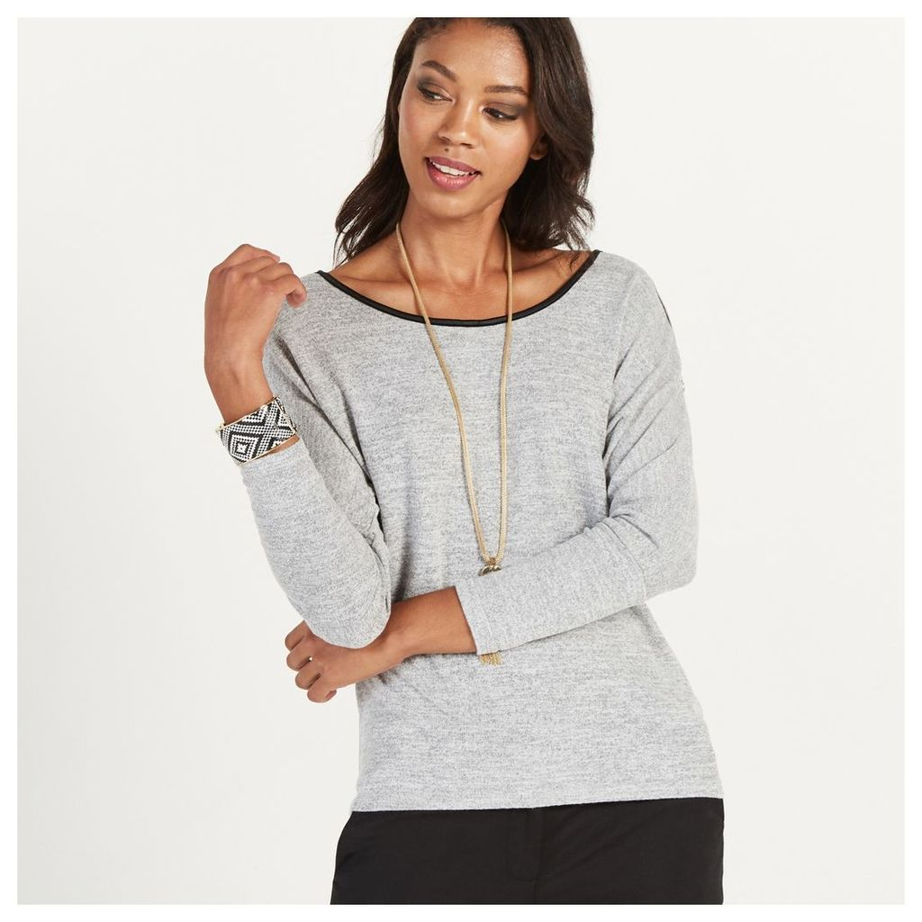Lace Zip Shoulder Top