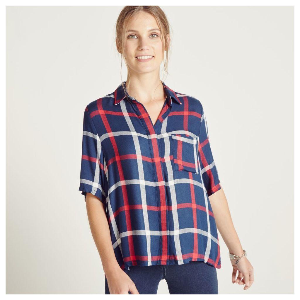 Blue Check Oversize Shirt