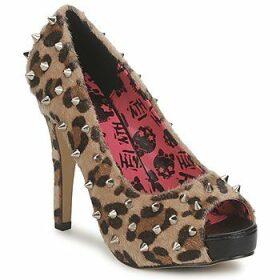 Abbey Dawn  PLATFORM PEEPTOE  women's Court Shoes in Brown