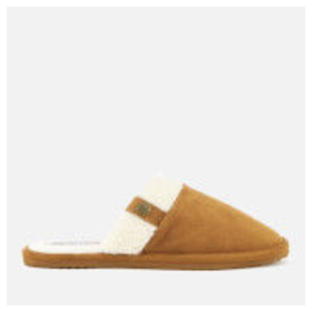 Superdry Women's Premium Mule Suede Slippers - Tan