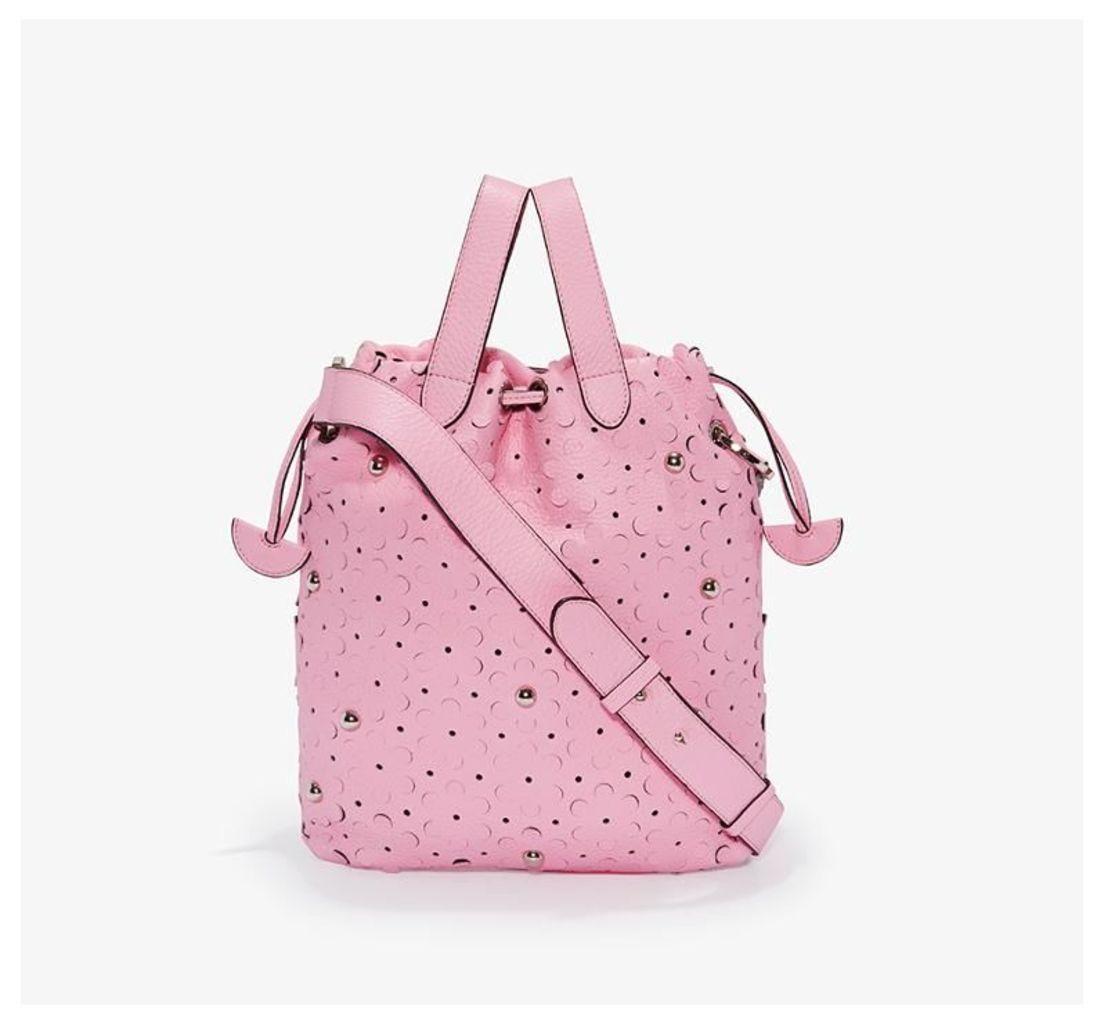 Hazel Tote Bag Peony Pink Daisy Laser