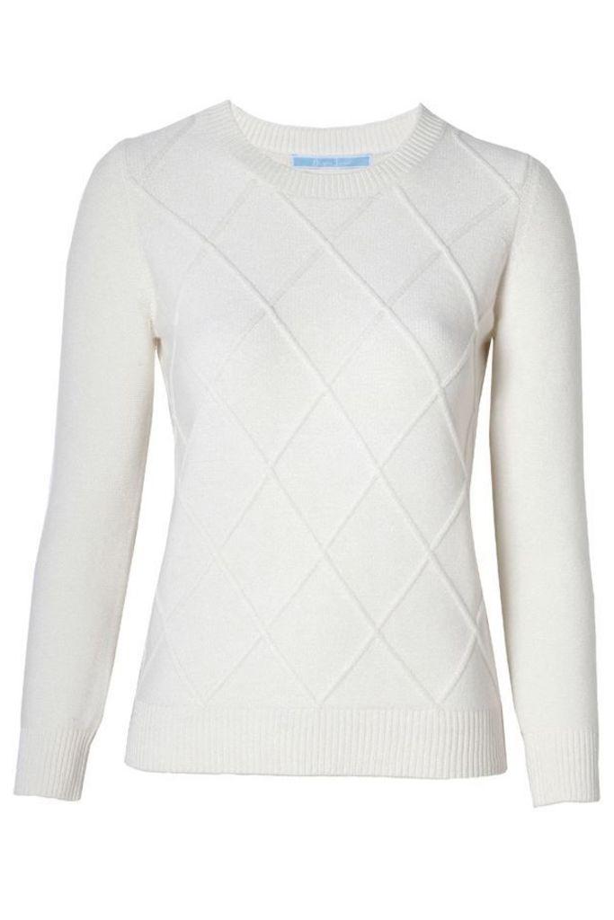 Argyle Sweater Willow White