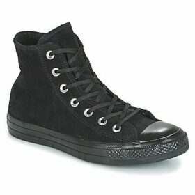 Converse  CHUCK TAYLOR ALL STAR MONO PLUSH SUEDE HI BLACK/BLACK/BLACK  women's Shoes (High-top Trainers) in Black