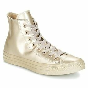 Converse  CHUCK TAYLOR ALL STAR LIQUID METALLIC HI LIQUID METALLIC HI GOLD  women's Shoes (High-top Trainers) in Gold