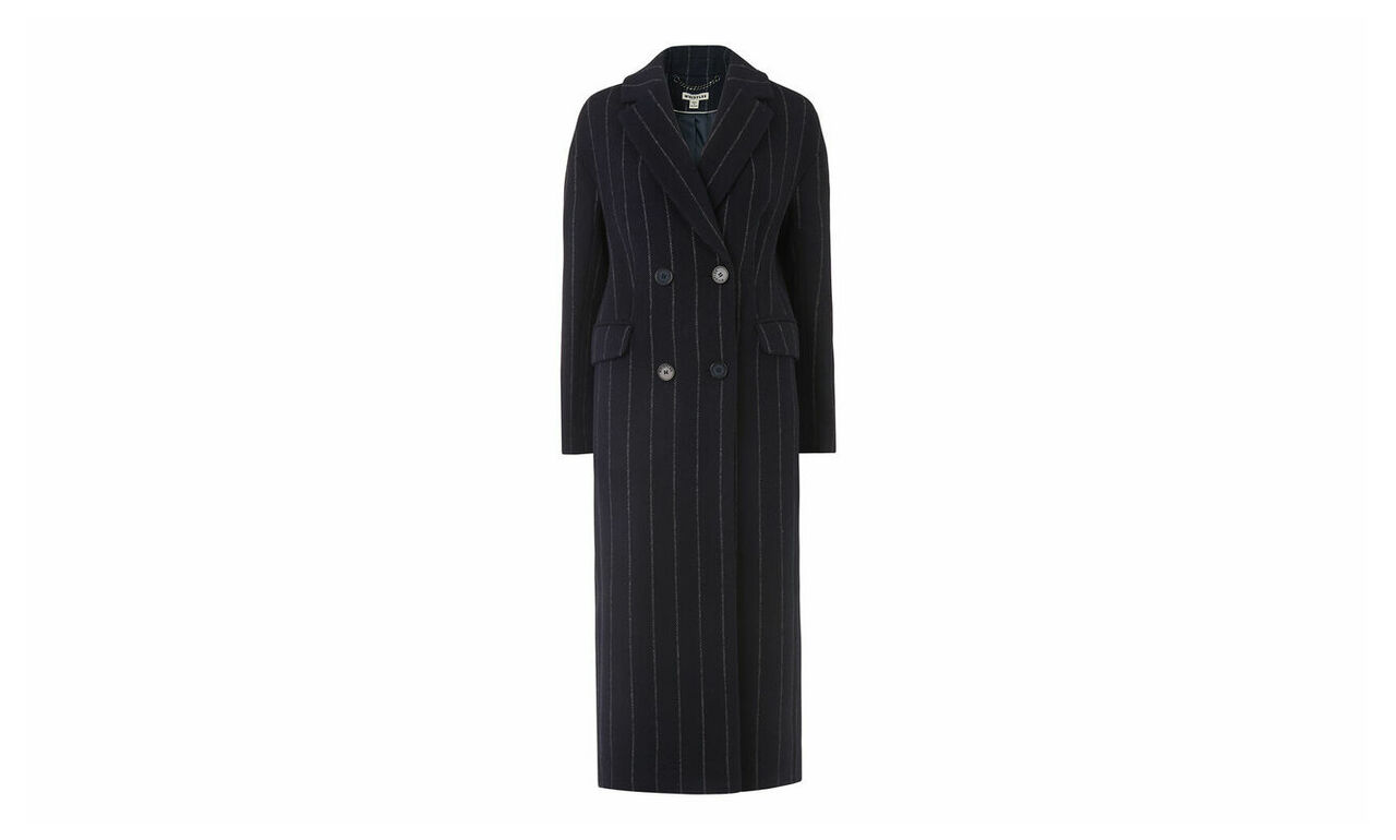 Stripe Double Breasted Coat