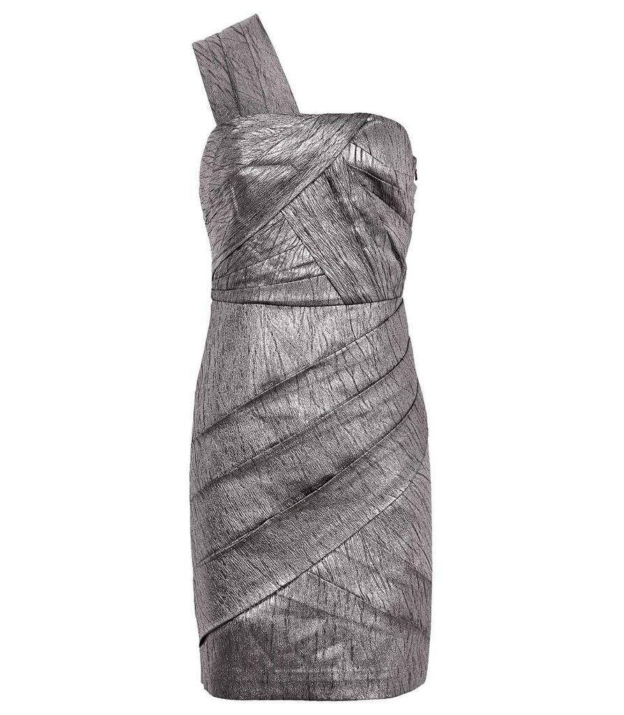 Reiss Uma - One-shoulder Bodycon Dress in Metallic, Womens, Size 4