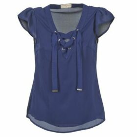 Moony Mood  IFADOU  women's Blouse in Blue